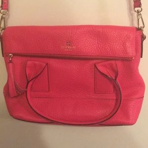 Kate Spade pink overlap zipper Bag Purse LIKE NEW